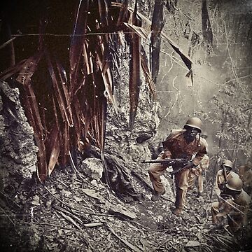 African American Soldiers Guam  by dianegaddis