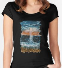 Stony Sunset Women's Fitted Scoop T-Shirt