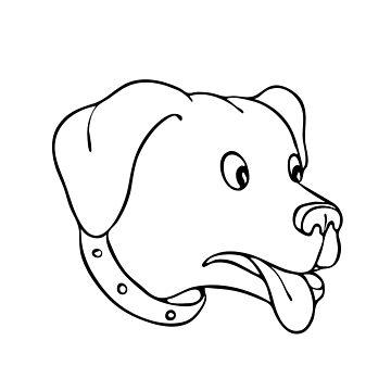 Labrador Retriever Surprised Drawing by patrimonio