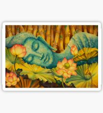 Reclining Buddha Sticker