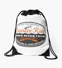 Manistee River Michigan  Drawstring Bag