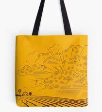 Retro landscape Tote Bag