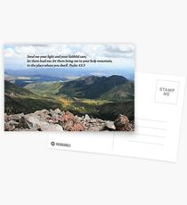 Celebrating Christ Summit Story Horizontal Card with Psalm Postcards