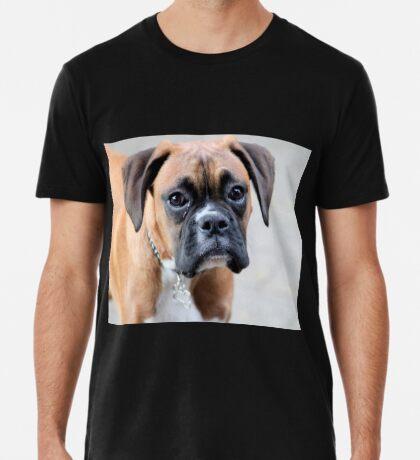 Dino - Ein Boxer Portrait - Boxer Dogs-Serie Premium T-Shirt