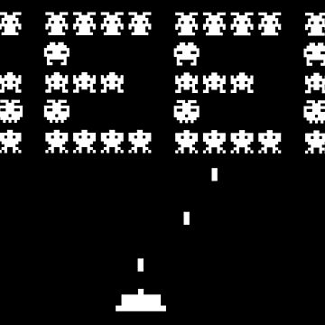 Geek video gamer funny retro Space Invaders Evergreen by peter2art