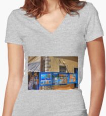 Art for Sale Women's Fitted V-Neck T-Shirt