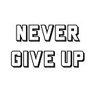 Never Give Up  by IdeasForArtists