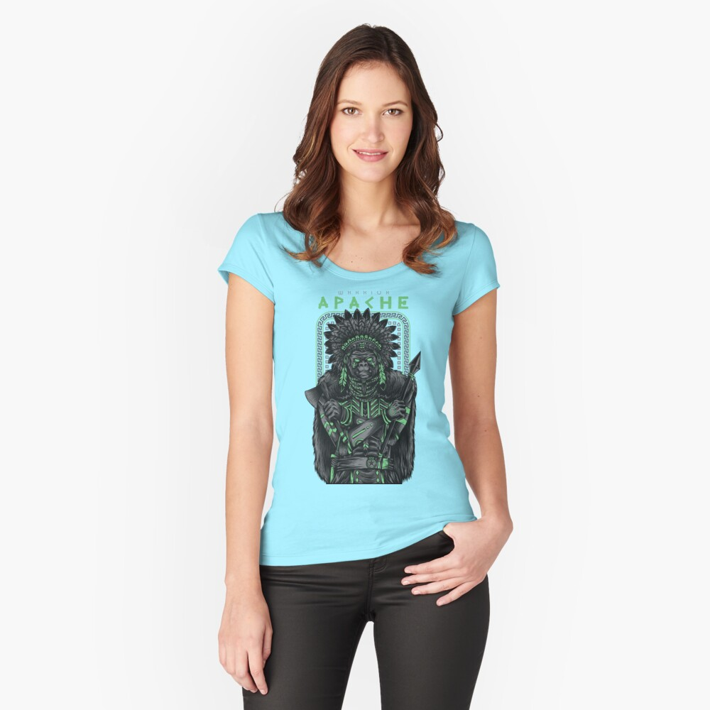 Apache fighter Women's Fitted Scoop T-Shirt Front