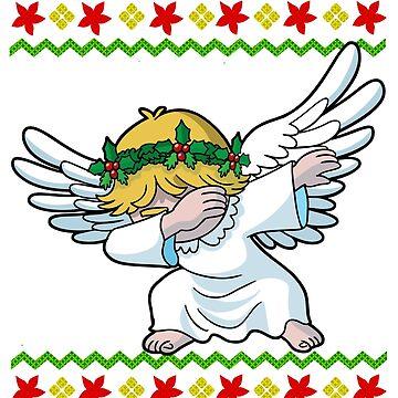 Dabbing Angel Ugly Christmas by frittata