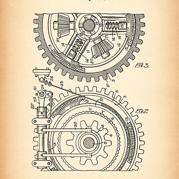 GEARING vintage patent by muharko