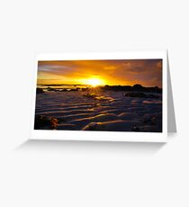 low tide at sunrise Greeting Card