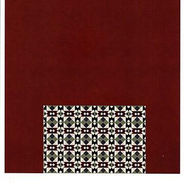 Christmas Tapestry red and green black desgin by AlyinWonderland