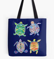 Sea turtles tropical theme Tote Bag