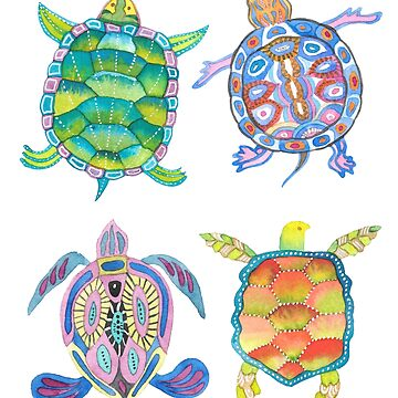 Sea turtles tropical theme by andreeadumez
