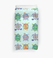 Sea turtles tropical theme Duvet Cover