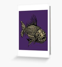 Skeletal Fish Greeting Card