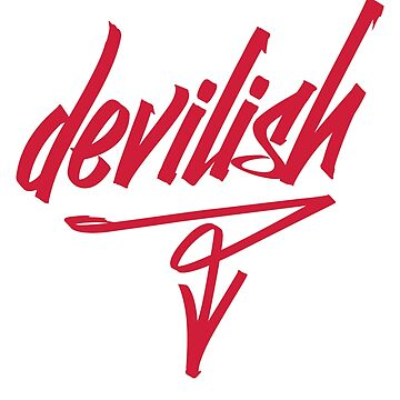 Devilish graffiti style graphic novelty attitude t-shirt by e2productions
