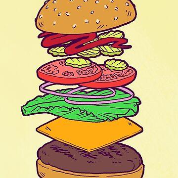 Anatomía de la hamburguesa vegana (sin palabras) de comfykindness