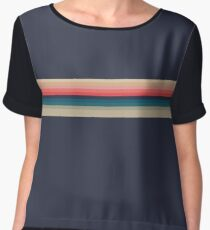 The Stripes That Fell to Earth Chiffon Top