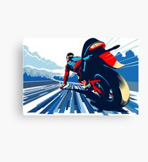 Lienzo Motor racer velocidad demonio