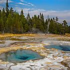 USA. Wyoming. Yellowstone National Park. Two Pools. by vadim19