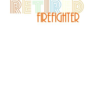 Retired Firefighter Vintage Retro Style Shirt by peaktee
