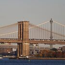 Brooklyn Bridge, Manhattan Bridge, Williamsburg Bridge, East River, New York City by lenspiro