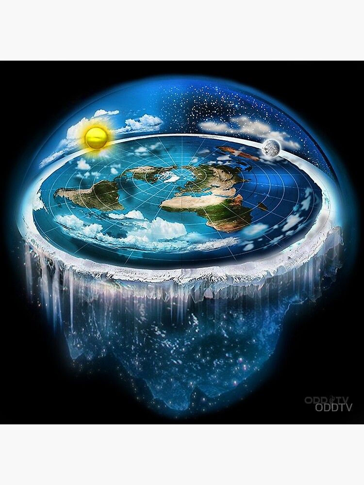 Flat Earth with Dome Art