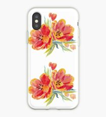 Tulips in watercolour iPhone Case