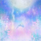 Animemädchenlandschaft, die in Himmel fällt von LunarAphelion