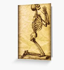 Praying Skeleton Altered Art Greeting Card