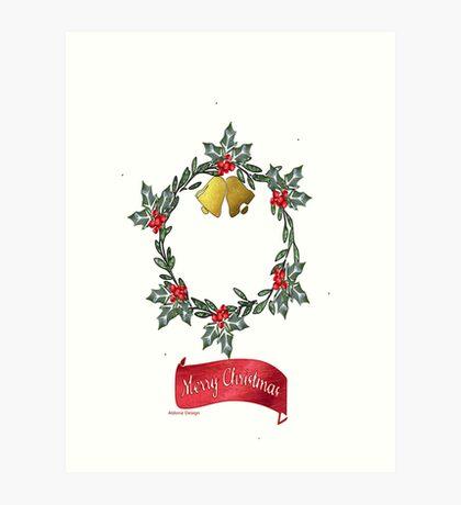 Wreath & Bells (3904 views) Art Print