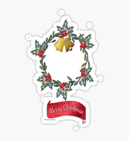 Wreath & Bells (3904 views) Sticker