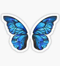 Blue Butterfly Wings Sticker