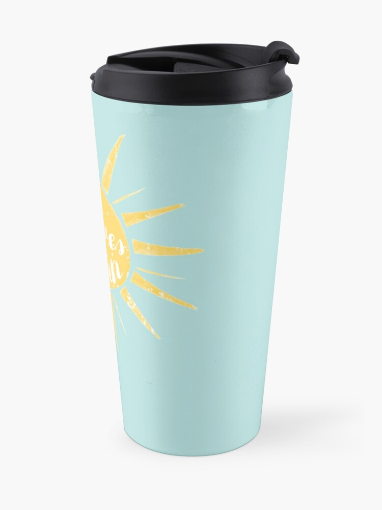 Alternate view of Here Comes the Sun Travel Mug