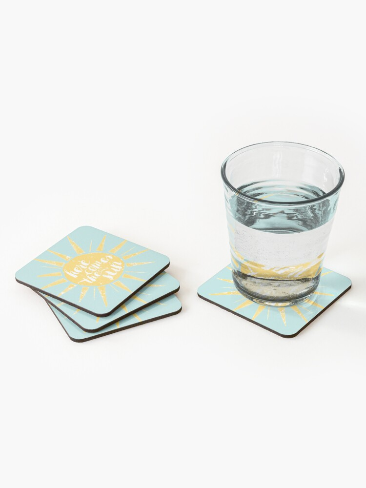 Alternate view of Here Comes the Sun Coasters (Set of 4)