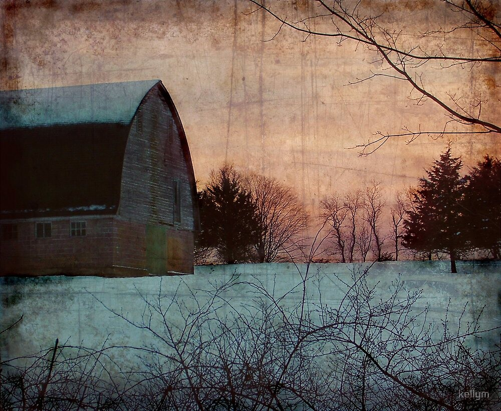 Winter Barn by kellym