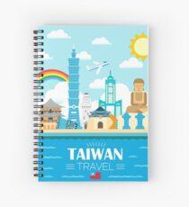 Taiwan travel scenery Spiral Notebook