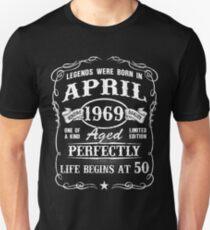 Born in April 1969, Life begins at 50 Slim Fit T-Shirt