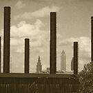Cleveland Smokestacks by Bob  Perkoski