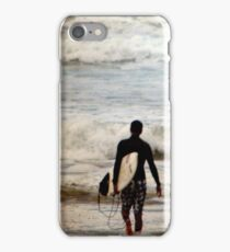 Heading Out - B&W Halftone iPhone Case/Skin