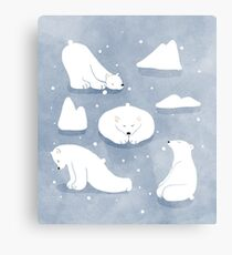 patterns Everyday | Yoga Bears Metal Print