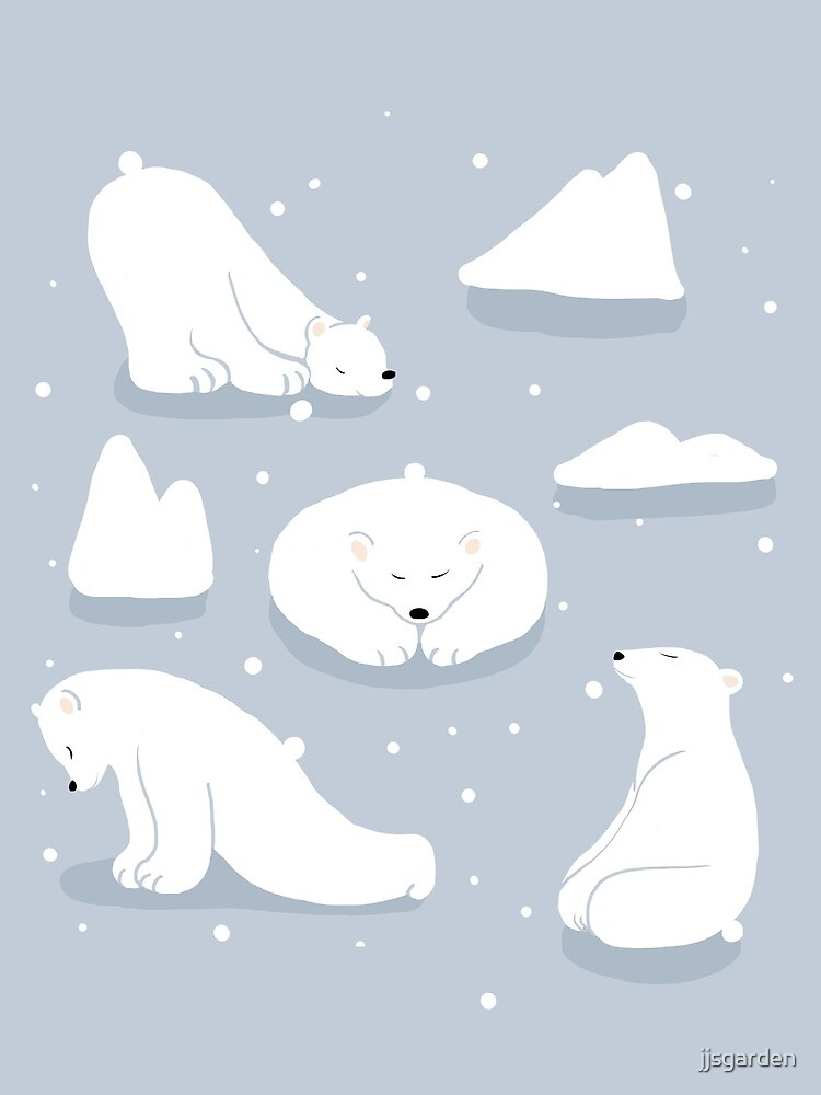 Muster Alltäglich | Yoga-Bären von jjsgarden