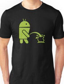 Android peeing apple Unisex T-Shirt