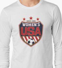 4b4c85bda USA Women's Soccer National Shield since 1985 Long Sleeve T-Shirt