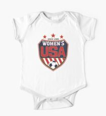 USA Women's Soccer National Shield since 1985 Short Sleeve Baby One-Piece