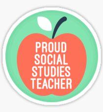 proud social studies teacher Sticker