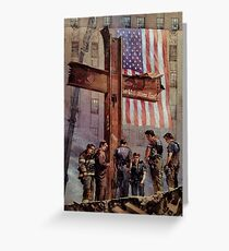 9/11 NYPD and FDNY, Heroes of our Time, Greeting Card