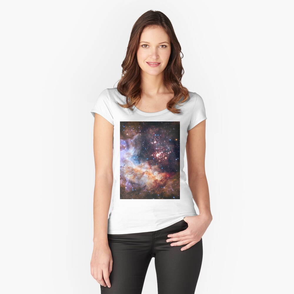 Galaxy Gas Cloud Fitted Scoop T-Shirt