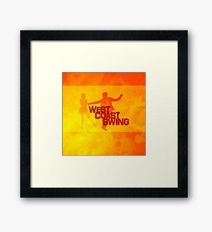West Coast swing Framed Print